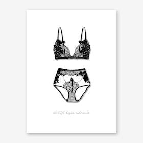 Lingerie Art Print