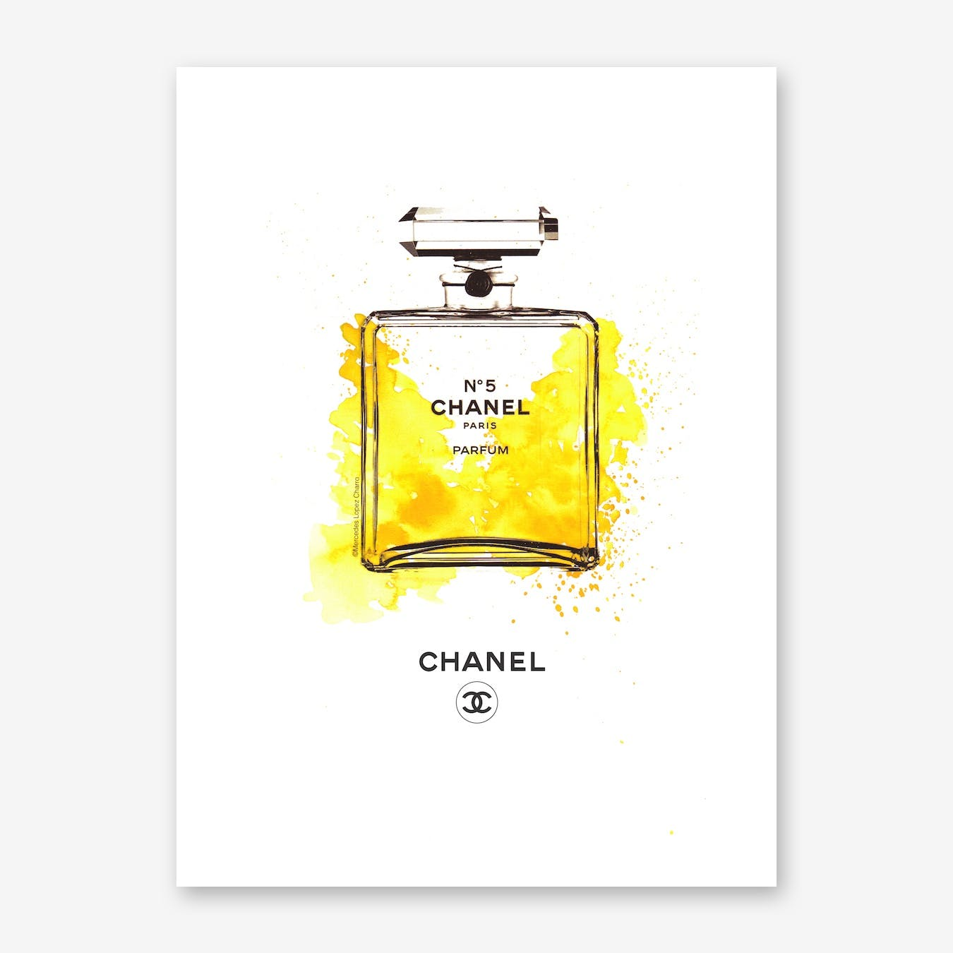 Chanel Bottle Yellow