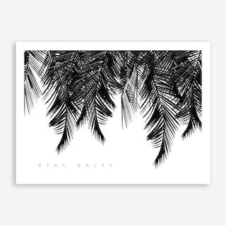 Stay Salty White Art Print