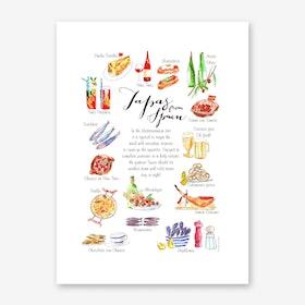Tapas Spain Art Print