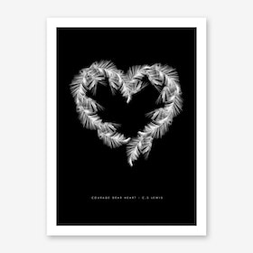 Black Palms Art Print