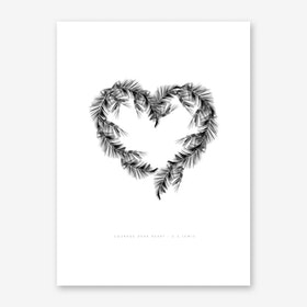 White Palms Art Print