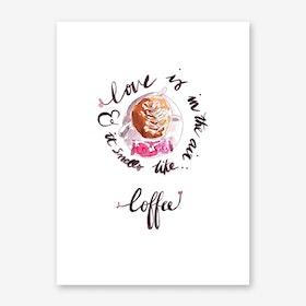 Smells like Coffee Art Print