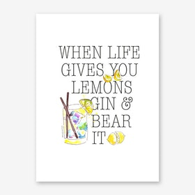 Gin and Bear it Art Print