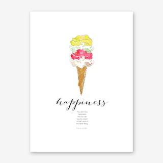 Happiness is Ice Cream Art Print