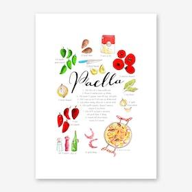 Paella Art Print
