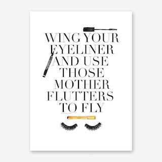 Mother Flutters Art Print