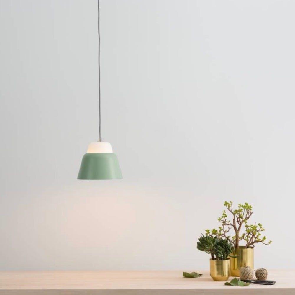 Modu S Pendant Light in Glass Green Semi-Matte