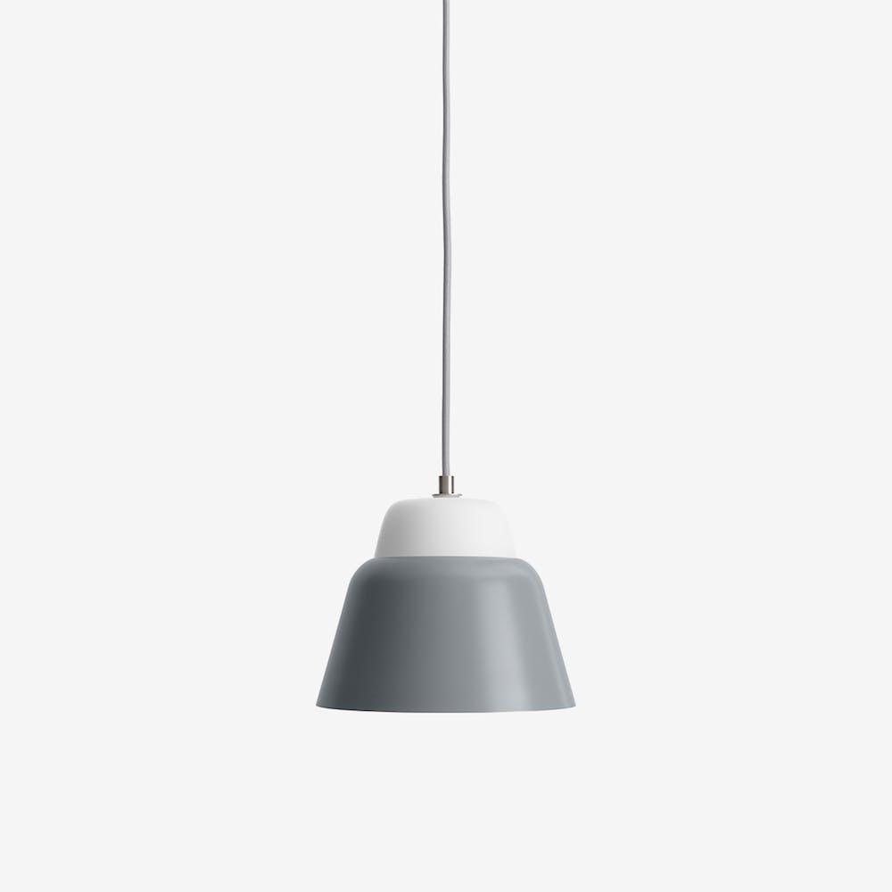 Modu S Pendant Light in Glass Gray Semi-Matte
