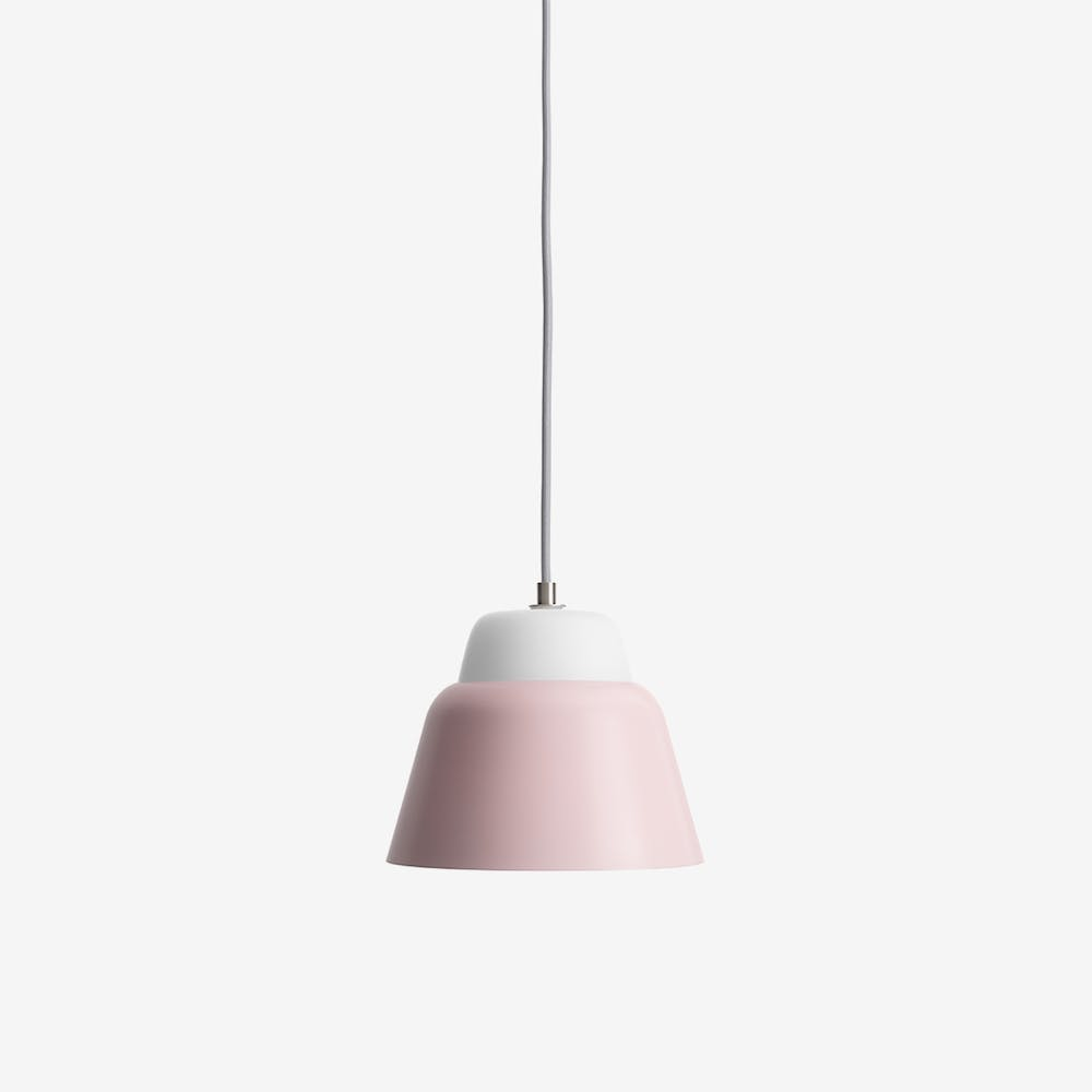 Modu S Pendant Light in Glass Pink Semi-Matte