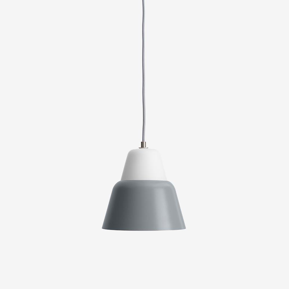 Modu M Pendant Light in Glass Dark Gray Semi-Matte