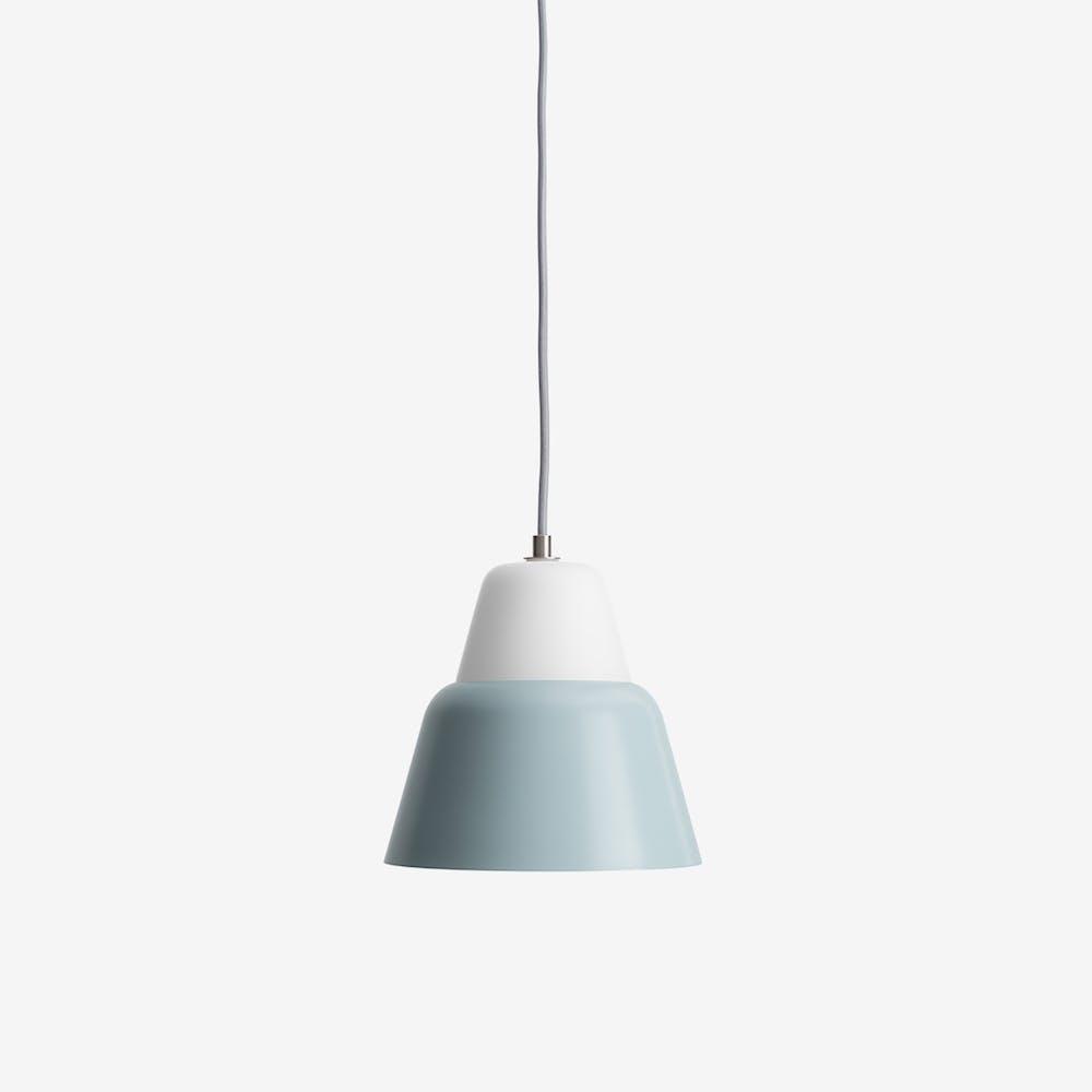 Modu M Pendant Light in Glass Blue Grey Semi-Matte