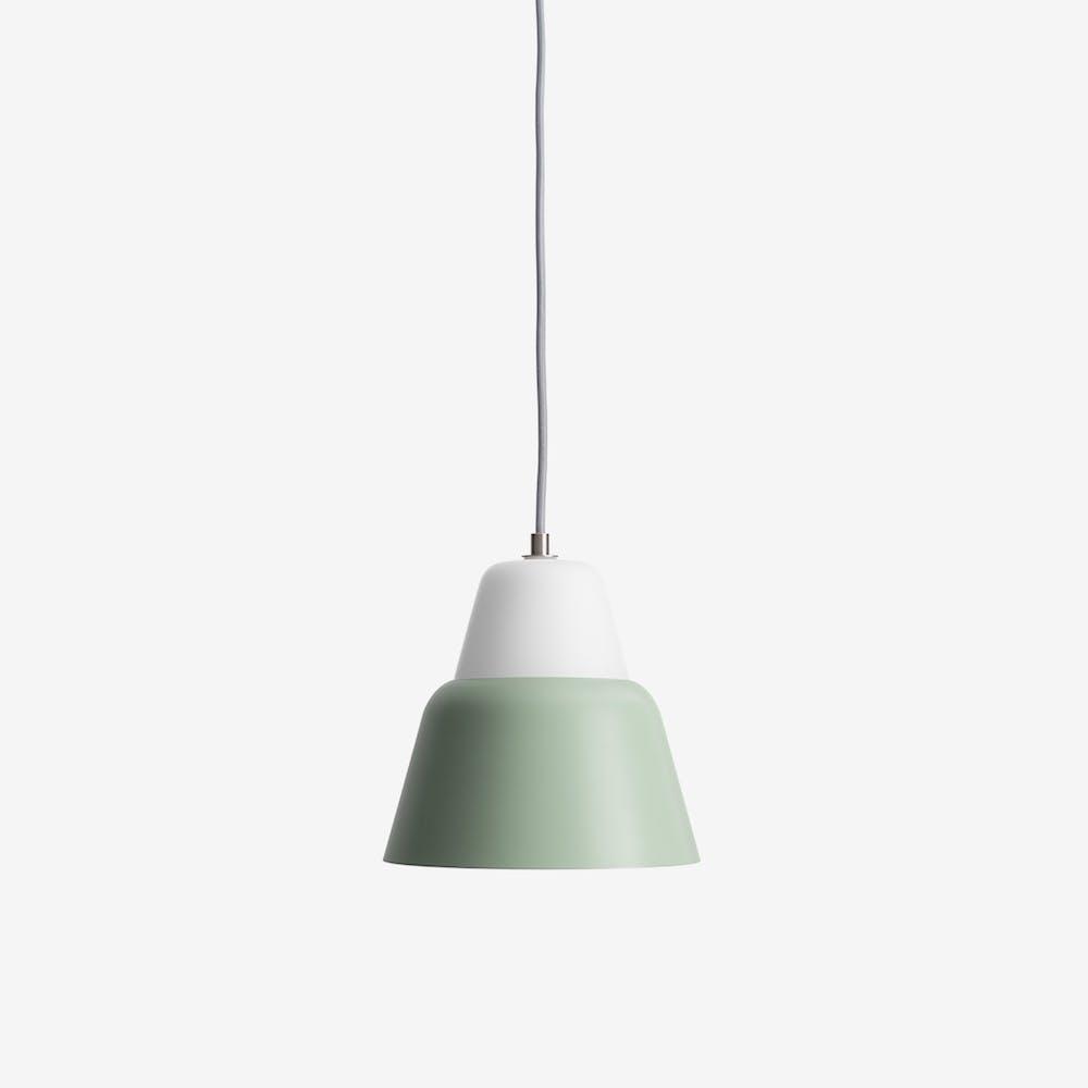 Modu M Pendant Light in Glass Green Semi-Matte