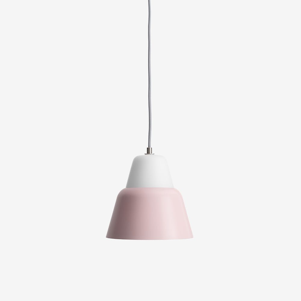 Modu M Pendant Light in Glass Pink Semi-Matte