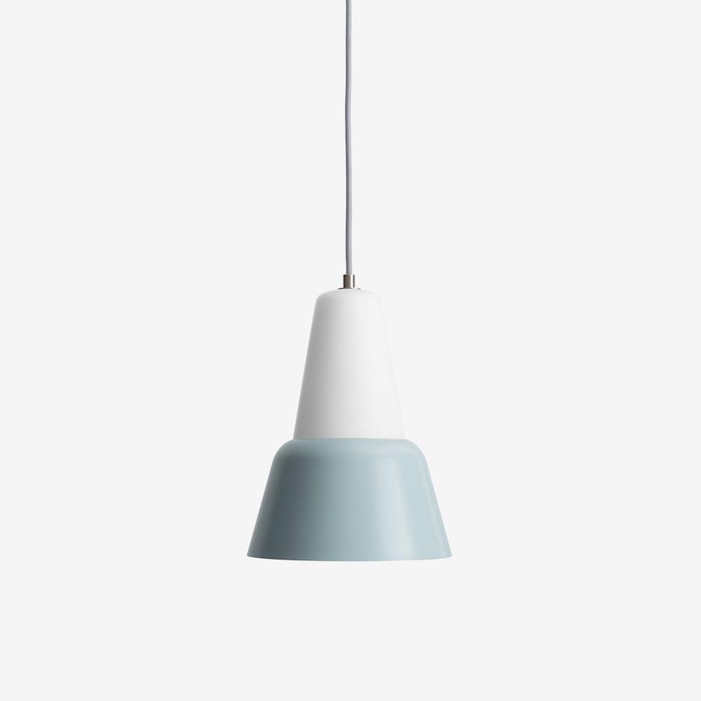Modu L Pendant Light in Glass Blue Grey Semi-Matte