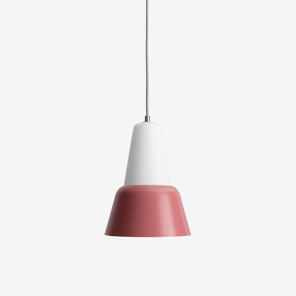 Modu L Pendant Light in Glass Dark Red Semi-Matte