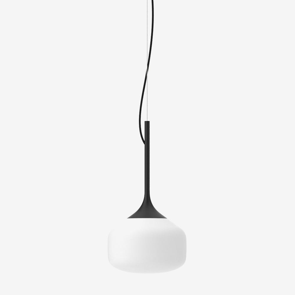 Awa S Pendant Light in Glass Black Semi-Matte
