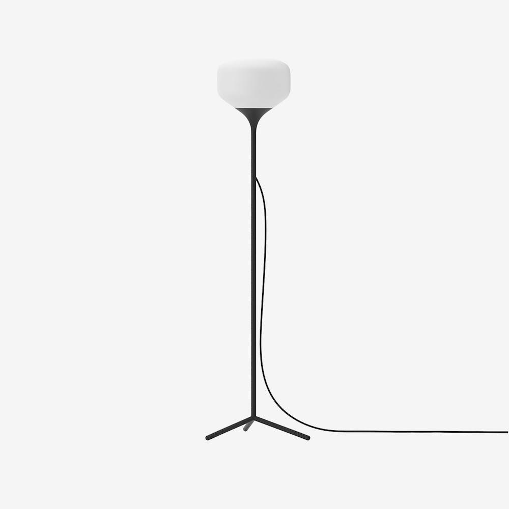 Awa S Floor Lamp in Glass Black Semi-Matte