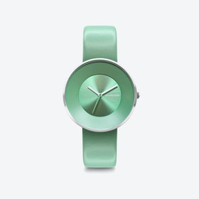 Cielo in All Menta with Leather Strap, 34mm
