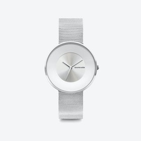 Cielo in All Silver with Mesh Strap, 34mm
