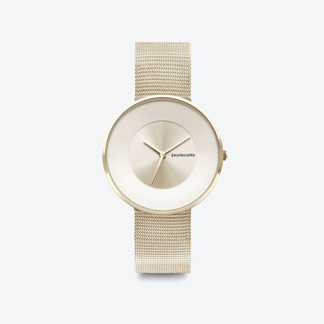 Cielo in All Gold with Mesh Strap, 34mm