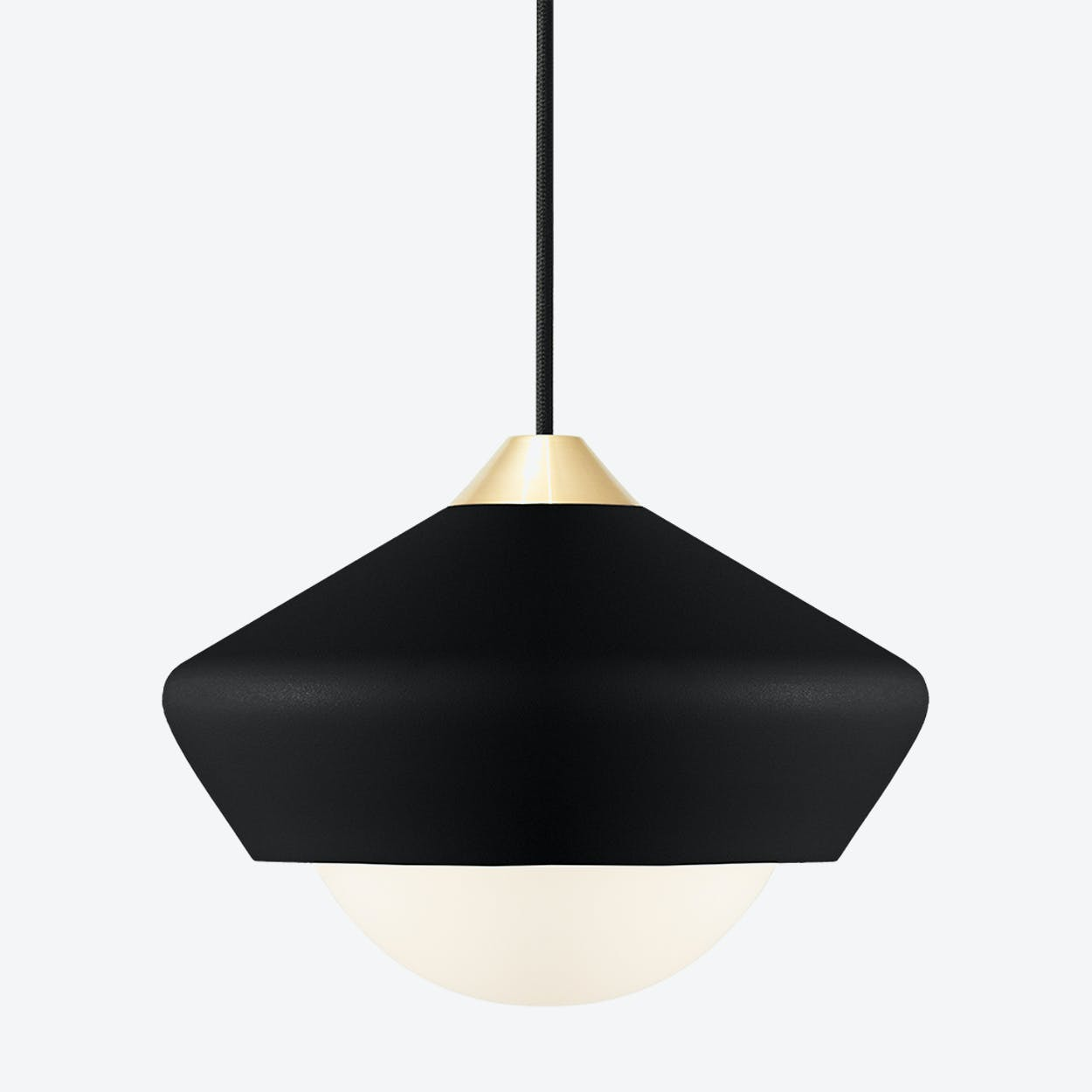 Bright Moon Pendant Light in Black