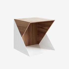 Flip Bookcase - Open in Walnut