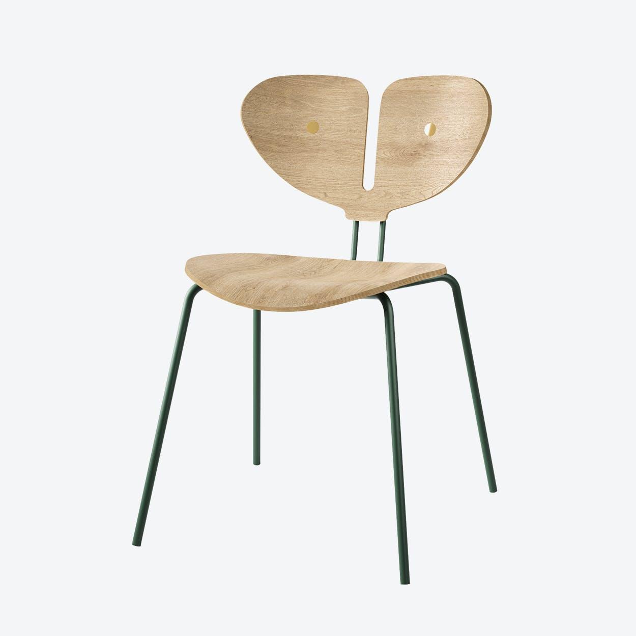 Moth Chair in White & Oiled Oak