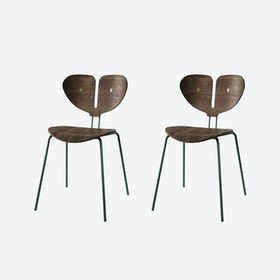 Moth Chair in Smoked Oak (set of 2)