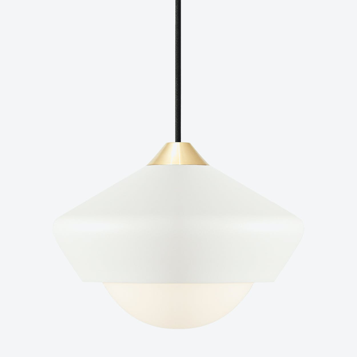 Bright Moon Pendant Light in White