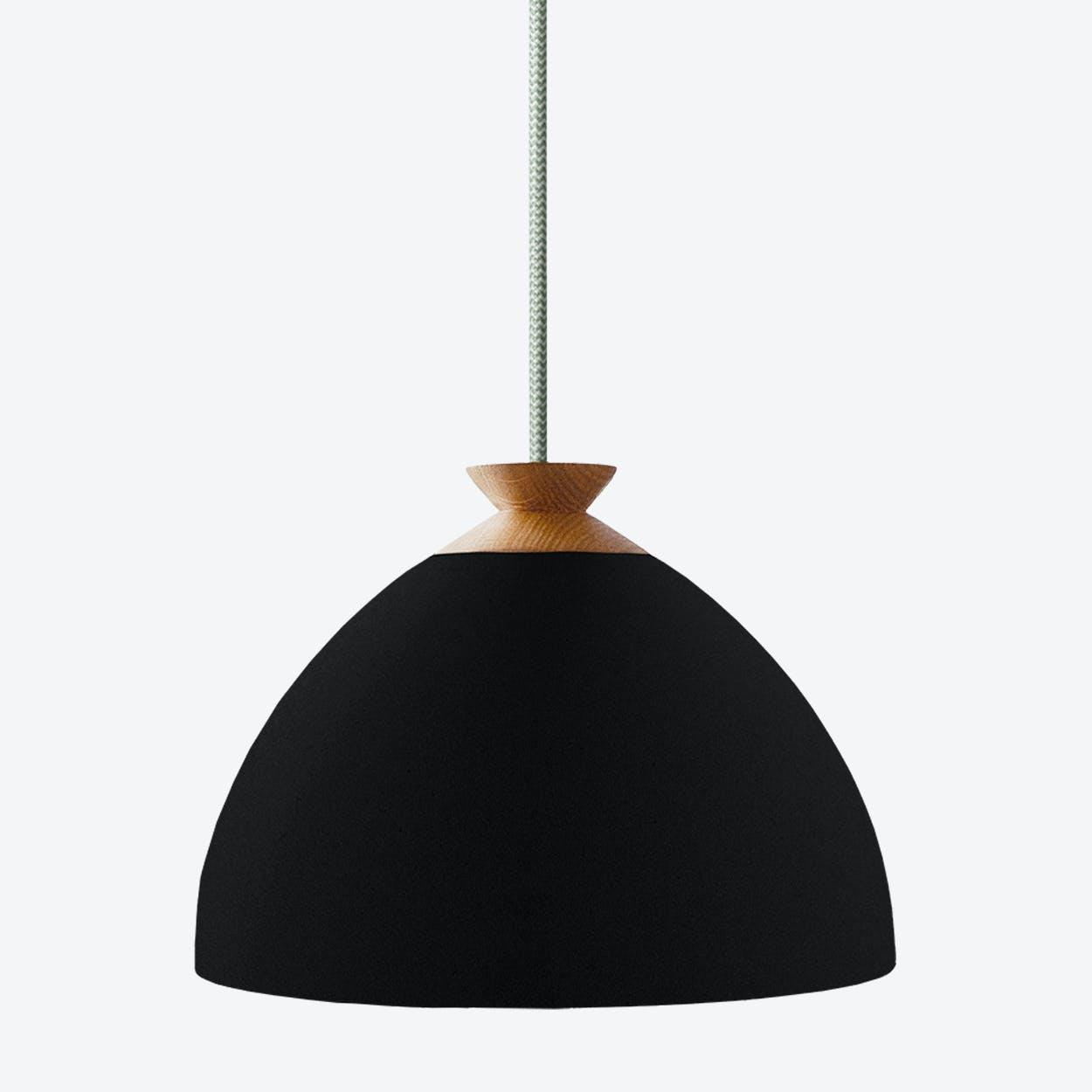 Bright Bloom Pendant Light in Black