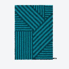 Weave-Felt Ball Rug (70x100 cm)