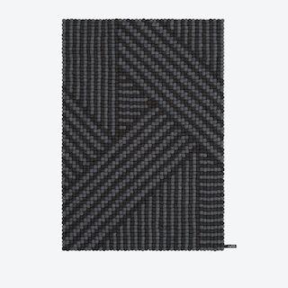 Weave-Felt Ball Rug (90x130 cm)