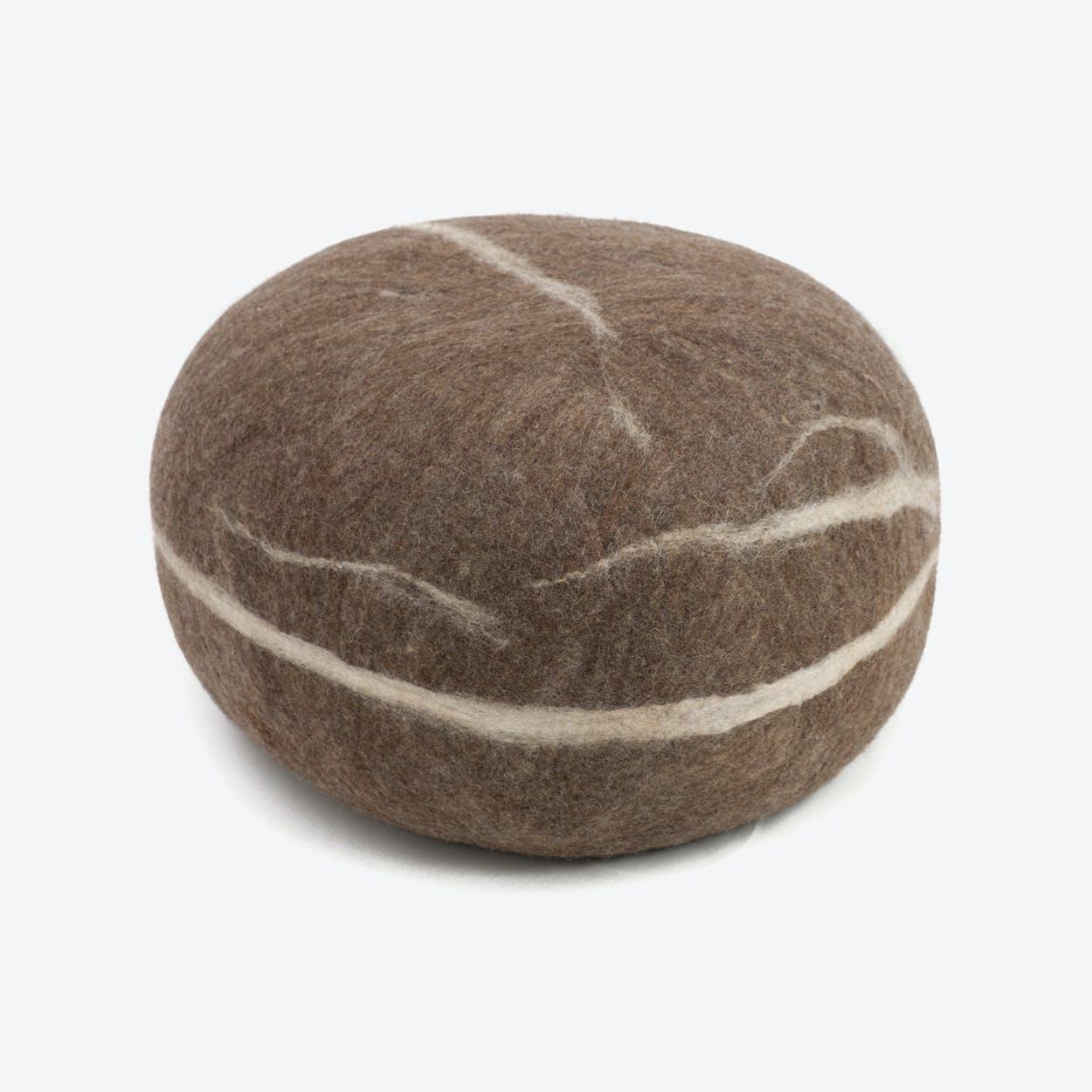 Alwin-Felt Sitting Stone in Brown
