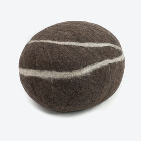 Oskaw-Felt Stone Sitting Stone in Dark Grey