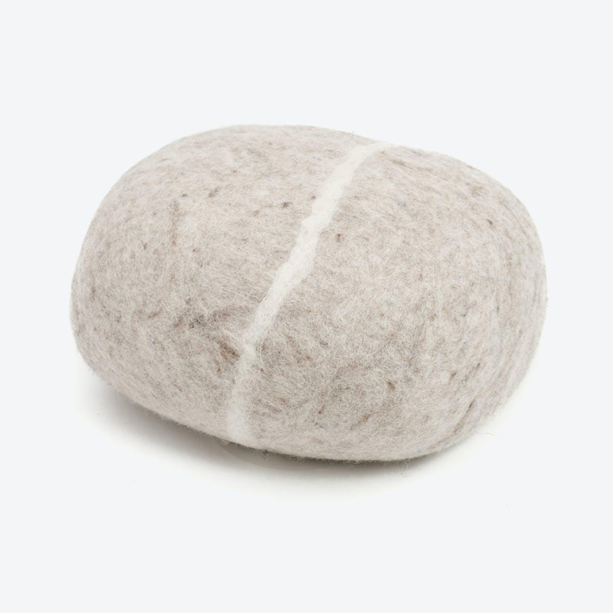 Béla-Felt Stone Sitting Ball in Beige