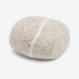 Béla-Felt Stone Sitting Ball in Beige