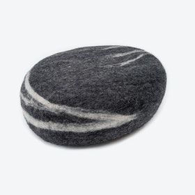 Hugo-Felt Stone Sitting Ball in Dark Grey