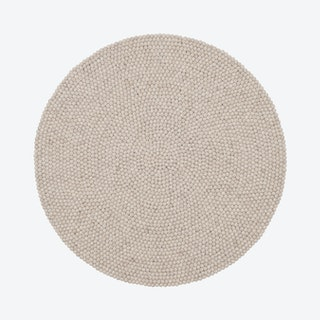 Round Bela Felt Ball Rug in Beige