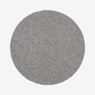 Round Carl Felt Ball Rug in Grey