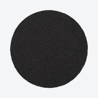 Round Kuno Felt Ball Rug in Anthracite