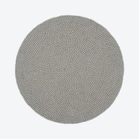 Round Luis Felt Ball Rug in Grey