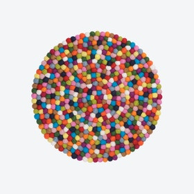 Round Lotte Seat Pad in Multicolour