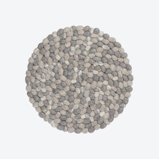 Round Hardy Seat Pad in Stone