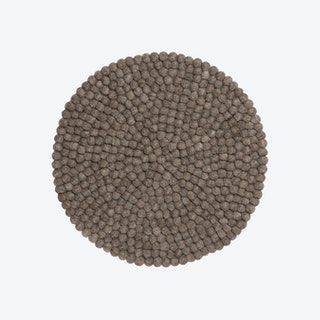 Round Alwin Seat Pad in Brown
