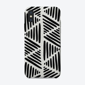 Black & White Abstract I iPhone Case