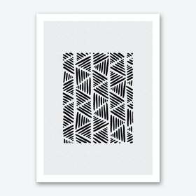 Black & White Abstract I Art Print