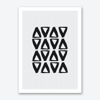 Black & White Abstract II Art Print
