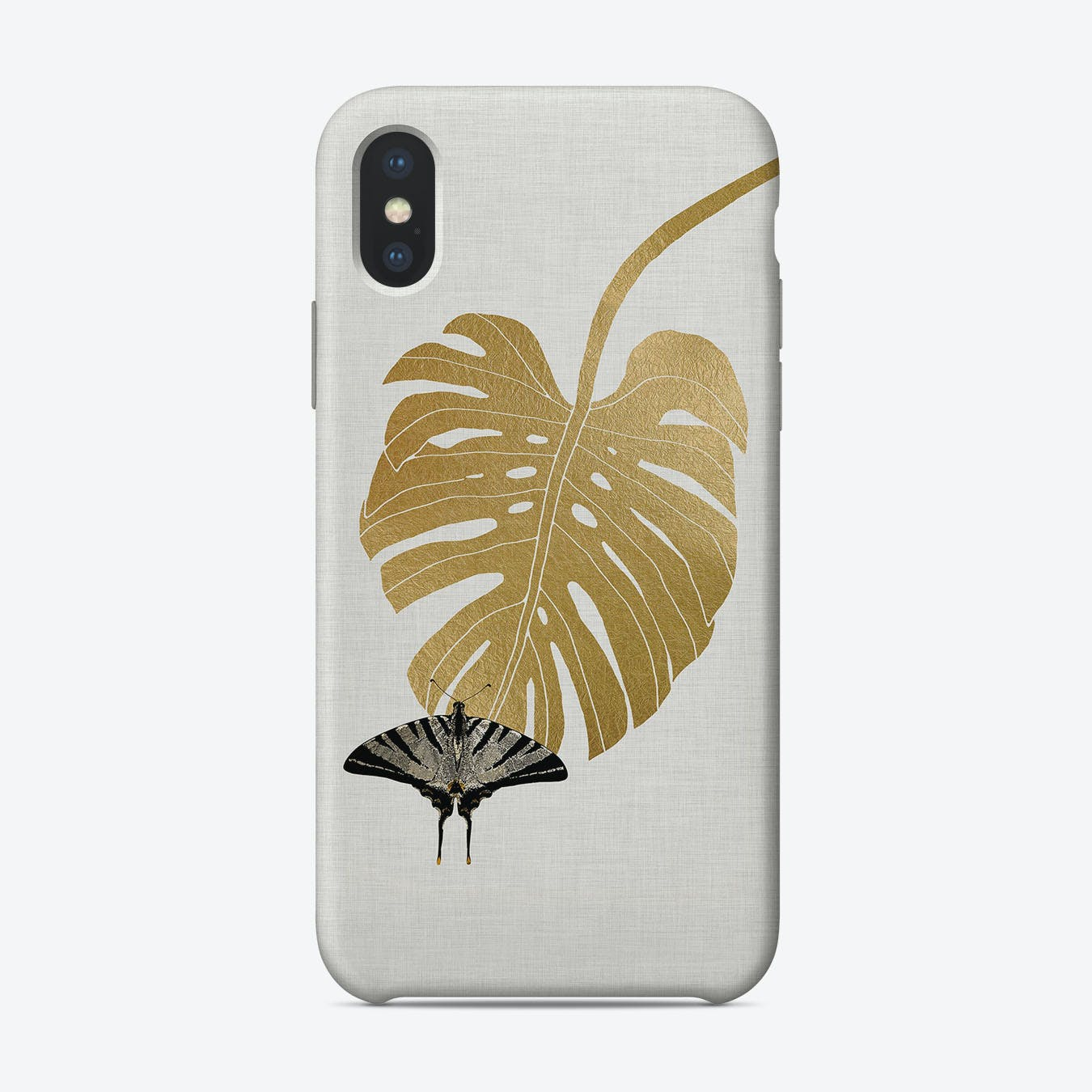 Butterfly & Monstera iPhone Case
