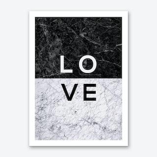 Love B&W Art Print